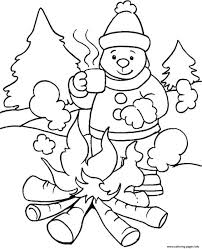 lovely decoration winter coloring page scene of chirstmas pages