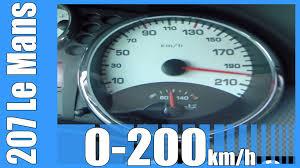 peugeot 207 le mans 1 6 thp 150 hp acceleration 0 200 km h
