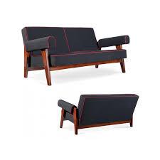 corbusier canapé le corbusier et jeanneret canapé en teck et toile de coton