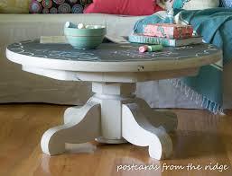 Pedestal Coffee Table Coffee Table Chalkboard Painted Pedestal Coffee Table Inspired