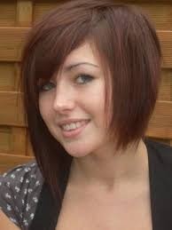 medium haircuts one side longer than the other asymmetrical bob have fun with my hair while it grows out since
