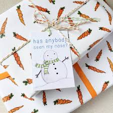 christmas wrapping paper sets christmas carrot wrapping paper set by clara and macy