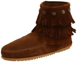 Brown Fringe Ankle Boots Minnetonka Women U0027s For Hello Kitty Fringe Ankle Boots Black Shoes