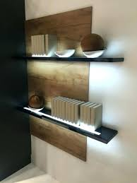 shelf with lights underneath light up floating wall shelf long floating shelves with lights light