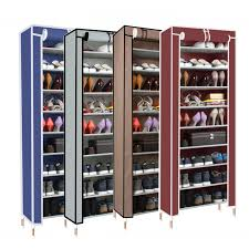 Aldi Shoe Cabinet Furniture Gorgeous White Iron Staining With 4 Tier Shoe Rack For