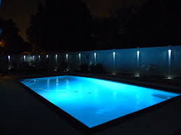 low voltage lighting near swimming pool low voltage fence lighting available in many different colors