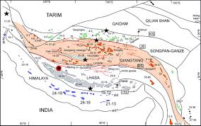 Tibetan Plateau Map Importance Of Continental Subductions For The Growth Of The