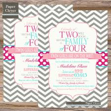 baby shower invitations for twins kawaiitheo com