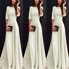 maxi dresses beige plain draped neck 3 4 sleeve maxi dress maxi dresses