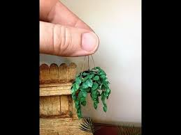 small potted plants dollhouse miniature potted plant tutorial youtube