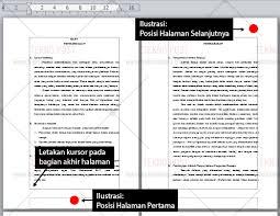cara membuat nomor halaman yang berbeda di word 2013 cara membuat format nomor halaman berbeda pada dokume word