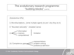 evolutionary theories of socio economic change building blocks