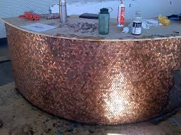 Copper Penny Tile Backsplash - cents and sensibility how to install a copper penny floor