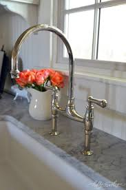 rohl kitchen faucet rohl perrin and rowe handle bridge kitchen faucet in polished
