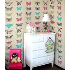 Stencils For Home Decor Butterflies Allover Stencil Pattern Butterfly Stencil Design For