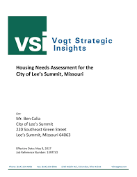 whats included in 96u housing needs assessment 2017 by city of lees summit issuu