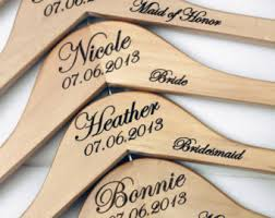 personalized wood 8 personalized bridesmaid hangers engraved wood