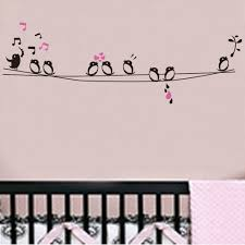 aliexpress com buy diy removable birds singing musical note