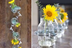 diy clamped mason jar vase centerpiece