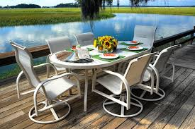 Outdoor Aluminum Patio Furniture Should I Buy Cast Aluminum Patio Furniture Palm Casual