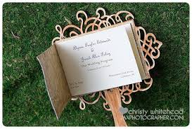 Rustic Wedding Program Fans Avant Garde Classic Modern Rustic Shabby Chic Vintage Brown Gold