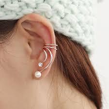 cuff piercing pearl cuff earring non piercing ear cuff earrings ear cuffs cuff ear