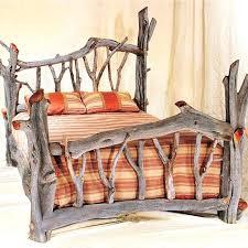 Cheap Log Bed Frames Log Bed Frame Ibbc Club