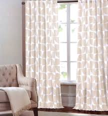Pattern Drapes Curtains Interior Design Exceptional 2 Geometric Curtain Panels With Black