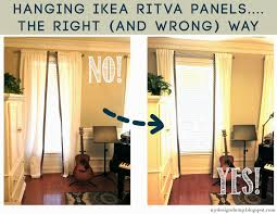 Ikea Curtains Panels Design Dump The Right And Wrong Way To Hang Ikea Ritva Panels