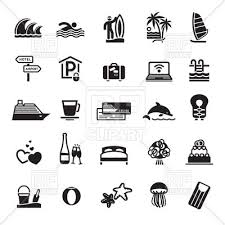 travel icons images Vacation and travel icons royalty free vector clip art image jpg
