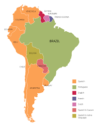 a map of south america languages of south america thematic map
