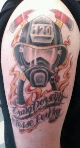 memorial tattoo strike the box firefighter tattoos