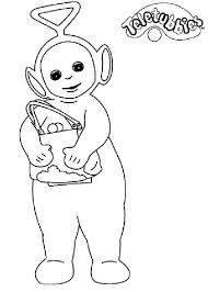 tinky winky shopping teletubbies coloring color luna