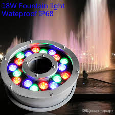 led fountain lights underwater 2018 dia 200mm ac24v 18w led fountain light underwater garden l