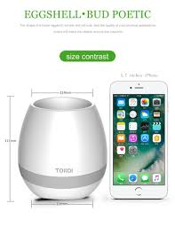 new bluetooth speaker smart music flower pot touch induction