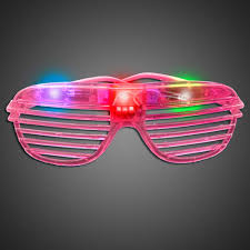 party sunglasses with lights extreme glow pink lighted party sunglasses