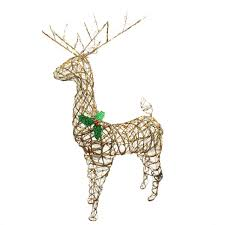 Lighted Santa And Reindeer Outdoor by Amazon Com Northlight Seasonal Standing Grapevine Reindeer