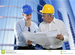 expertise architect engineer plan looking building royalty free