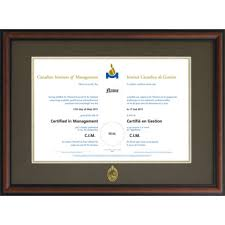 certificate frame cim certificate frame wood manitobacim1521wd