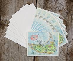 Ma Map Nantucket Ma Note Cards U2013 El U0027s Cards