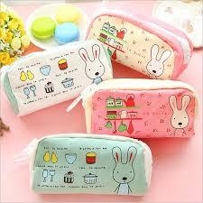 rabbit material pencilcase for rabbit pencil pouch material escolar