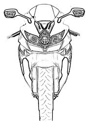 get excited with motorcycle coloring pages