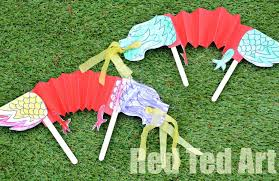 chinese crafts kids dragon puppets red ted art u0027s blog