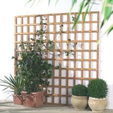 traditional timber square trellis panel h 1 83m w 0 32 m