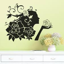 online get cheap wall flower decals aliexpress com alibaba group flowers wall stickers decals woman romantic love rose stickers living room bedroom removable waterproof wallpaper home