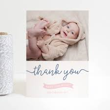 baby thank you cards new baby ribbon thank you cards by project pretty