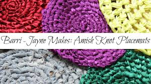 Amish Braided Rugs How To Make Amish Knot Trivets Placemats Toothbrush Rag Rug