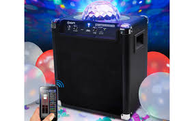 ion portable speaker system with party lights party rocker live wireless speaker with party lights and app