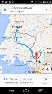 Google Maps Running Route by North Korea Driving Instructions Come To Google Maps