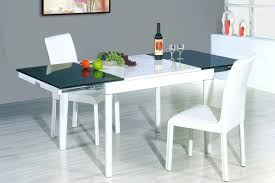 Square Glass Dining Table Extending Glass Dining Table Home Decorations Modern